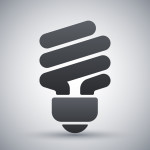 Vector saving light bulb icon